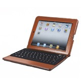 77-Key Portfolio Case with Bluetooth Keyboard for iPad,iPad 2 / 3 /4, Light Brown